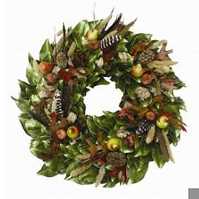 Pear and Feather Wreath