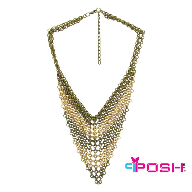 Hava - Fancy Turkish Style Necklace -Antique Brass and Gold Colour -Dimensions: 40cm+ 5cm extending chain $83.00  #necklace #jewelry