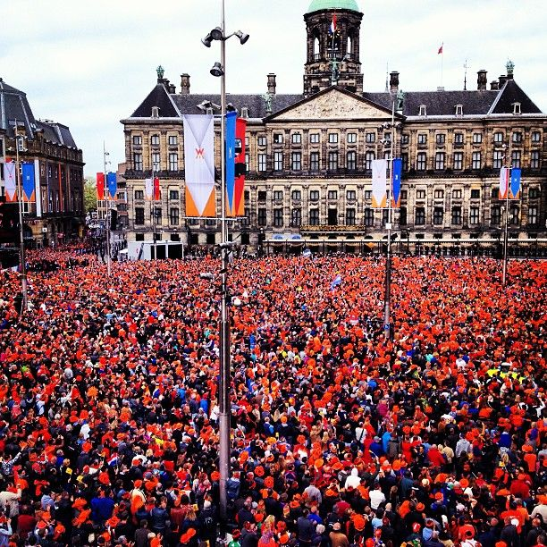 Koninginnedag; but in 2013 it has been changed in Koningdag for we have a king now in the Netherlands