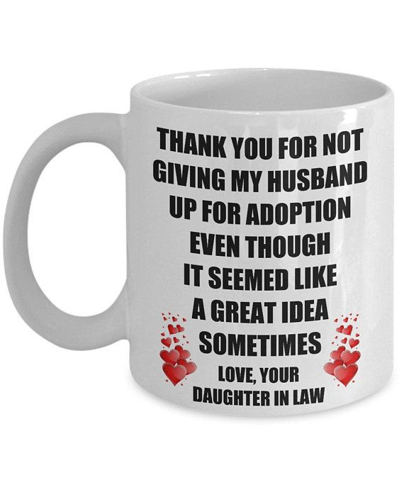 Funny Gift for Father In Law Mother In Law Thank You for not Selling my Husband