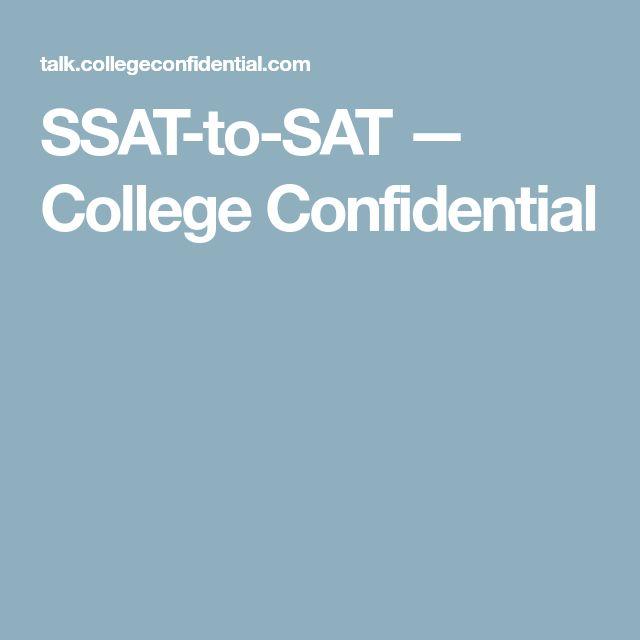 SSAT-to-SAT — College Confidential