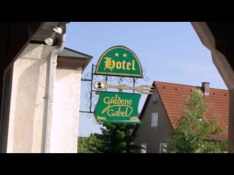 Hotel Güldene Gabel - Unterwellenborn - Visit http://germanhotelstv.com/guldene-gabel Scenically located 2 km from Hohenwarte-Stausee (reservoir) in the heart of Thüringia Hotel Güldene Gabel offers a terrace garden and free internet access.  Rooms here are bright and classically decorated with wooden furnishings. -http://youtu.be/lyjOkjunamM