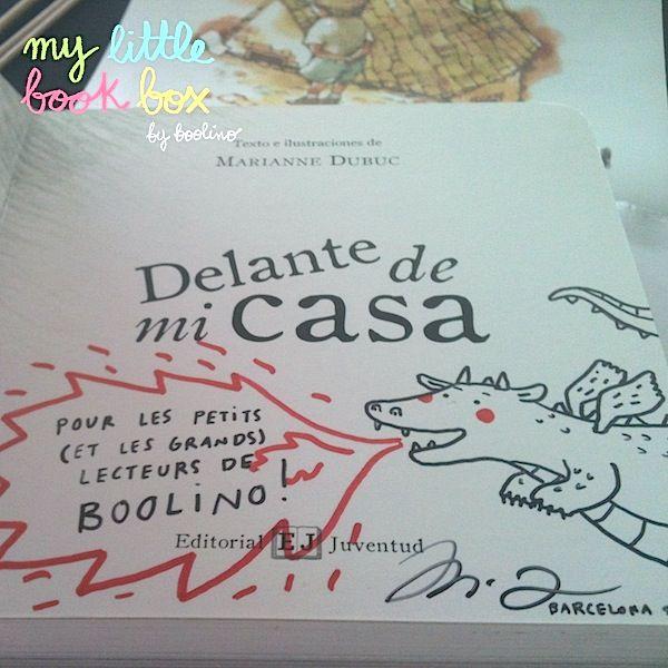 """¡Marianne Dubuc nos dedicó el libro """"Delante de mi casa""""!"""