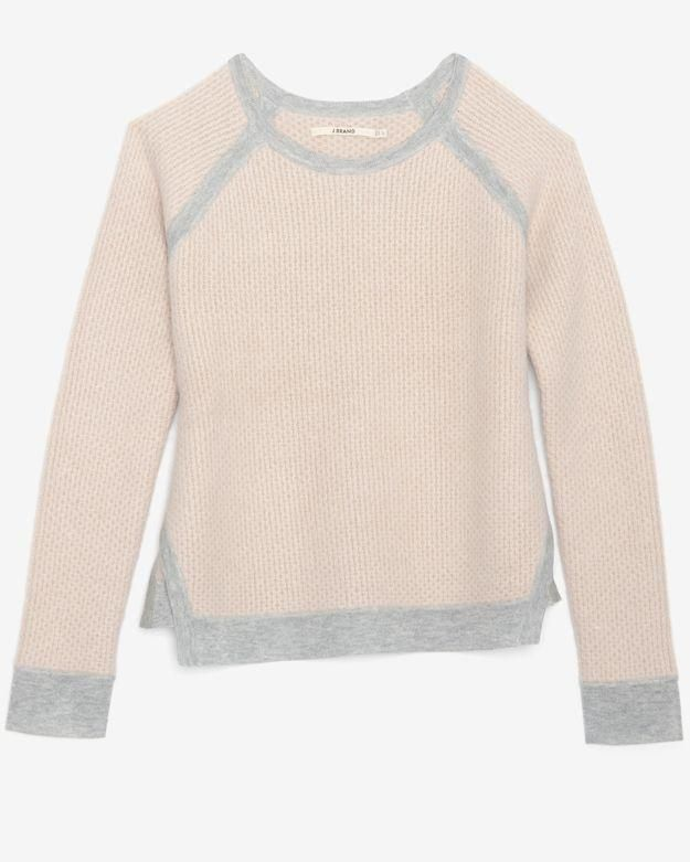 This is the perfect sweater for cool tone ladies. Delicate colors + a thick knit makes a gorgeous combo.