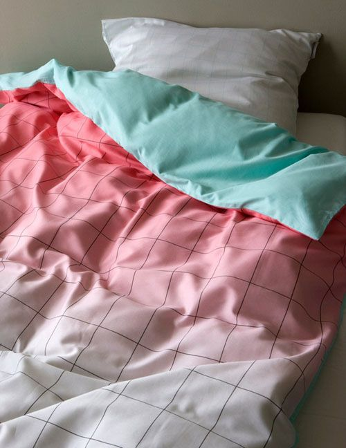 Geometric bed linens by Scholten and Baijings for Hay (via happy mundane)
