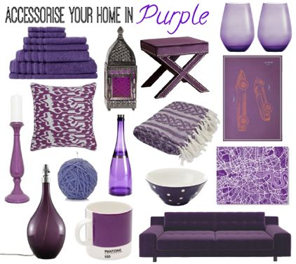 Accessorise your home with purple pieces from Missoni, Pantone, Casa Uno, John Lewis, Maxwell & Williams, Americanflat, Abbyson Living, Odyssey Living, Habitat and Wedgwood.