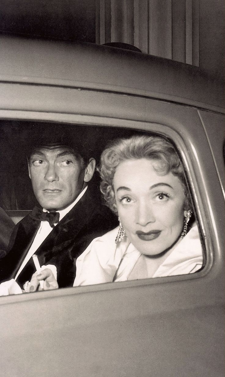 MARLENE DIETRICH 52 & Jean Marais (french actor & Jean Cocteau's boyfriend) Monte Carlo 1954. Photo (detail) Edward Quinn (please follow minkshmink on pinterest) #marlenedietrich #jeanmarais #montecarlo