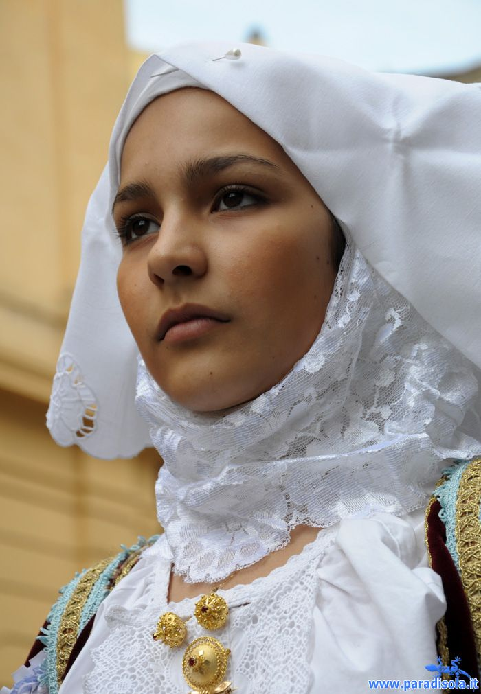 young woman from Northern Sardinia,Sennori