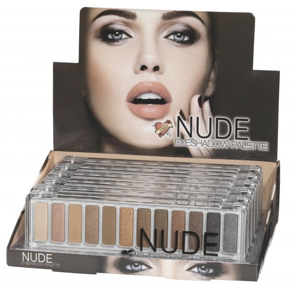 Palette Nude Zingus Palette de 12 #ombres à #paupières dans un dégradé de tons nudes