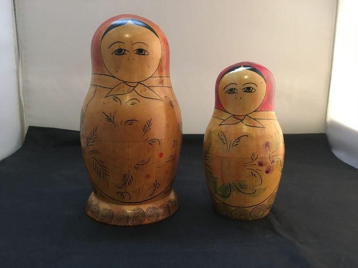 Vintage and Rare Mouthless Russian Matryoshka Babushka Nesting Dolls – 2 Pieces in Dolls, Bears, Babushka Dolls   eBay!
