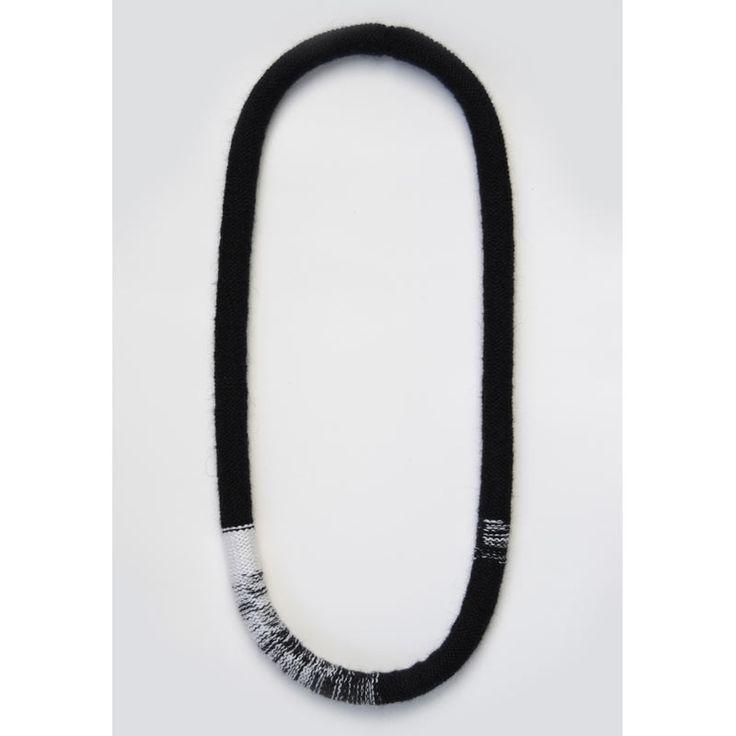 Black and White Okapi Necklace