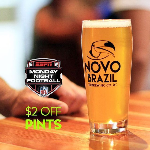 Eagles vs Redskins is on tonight at 5:30pm. Who do you think will win? Either way, you get to take $2 off each pint during the game tonight and every Monday night. #sandiego #sandiegoconnection #sdlocals #sandiegolocals - posted by Novo Brazil Brewing Co. https://www.instagram.com/novobrazil. See more San Diego Beer at http://sdconnection.com