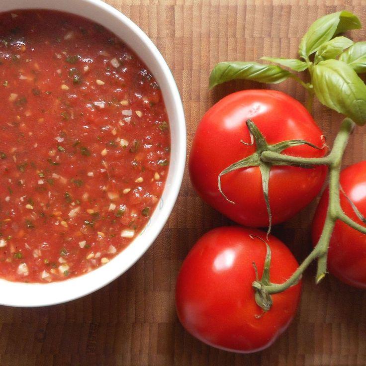 Verse tomatensaus / fresh tomato sauce - Het keukentje van Syts