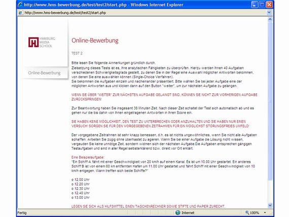 Online-Assessment zur Studierenden-Auswahl, z.B. an der Hochschule St. Gallen