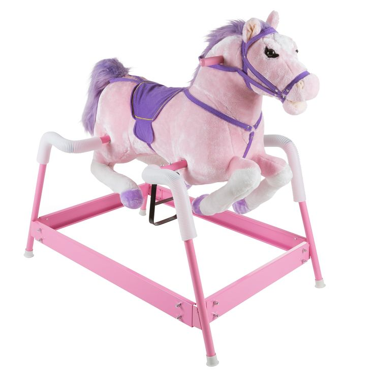 Happy Trails Spring Rocking Horse Plush Ride On