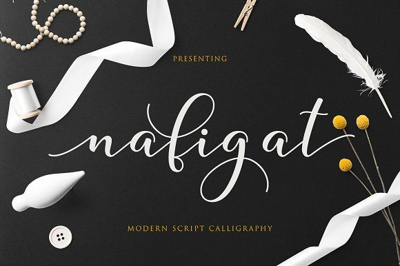 Nafigat Script by Fittingline Type Supply on @creativemarket