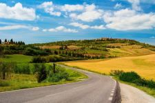 Sunny day country road hd wallpaper