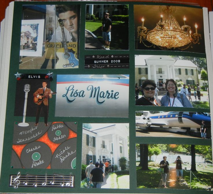 Last Page Memphis Road Trip Graceland Album 2009 - Scrapbook.com