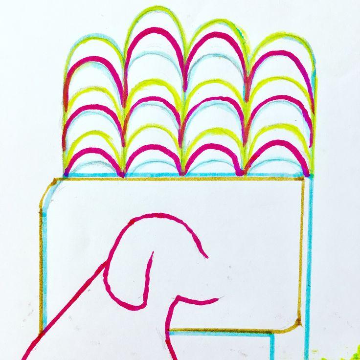 """hello dawn"" #drawing #graphic #artwork  #colourful #dog #animal #music #plants #tree #garden #resort #pop #tokyo #japan #keijiito #ufg"