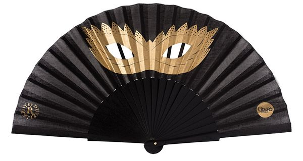 Eventail Opéra de Paris par Duvelleroy // Mask hand-fan by Duvelleroy for the Opera of Paris
