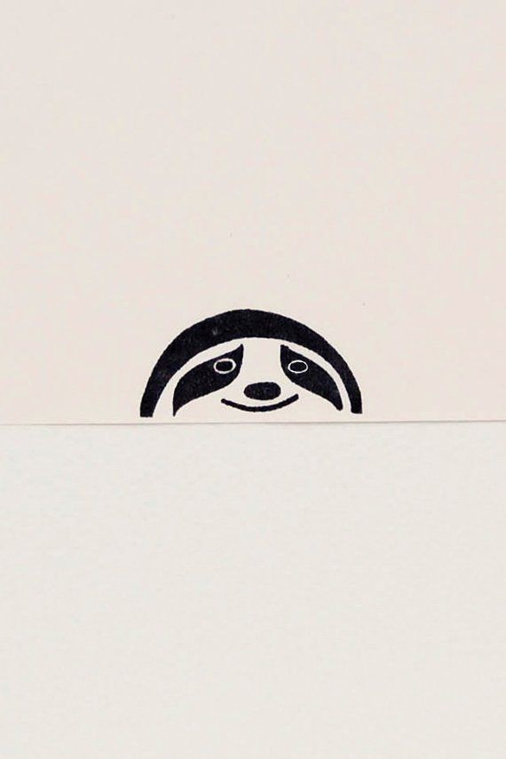 Sloth stamp, sloth gift, funny coworker gift, best friend gift, sloth birthday gift, custom rubber stamp, cute stationary, woodlandtale