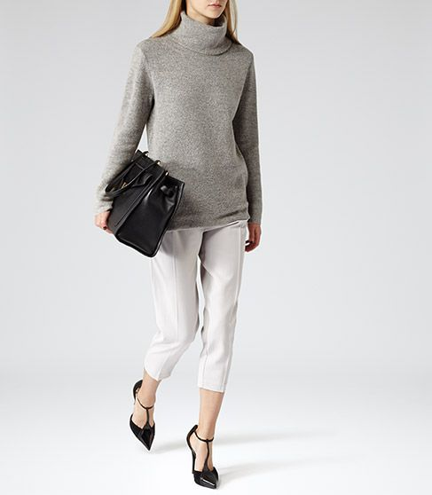 reiss sergant grey oversized jumper