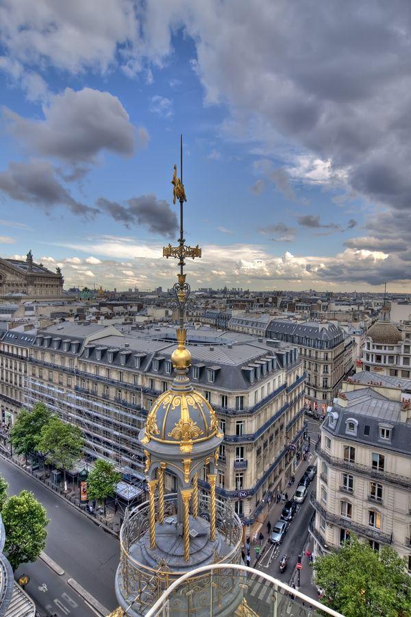 Vue sur Paris depuis la terrasse du Printemps. #photos #paris