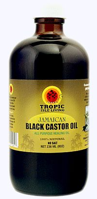 Jamaican Black Castor Oil. Great to thicken hair, lashes and moisturize skin.