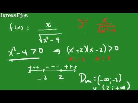 Dominio y rango función racional con radical en el denominador
