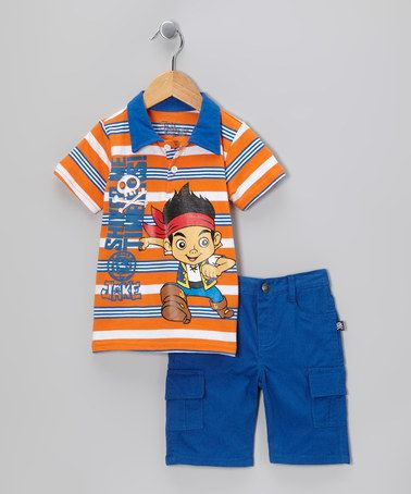 Take a look at this Blue 'Shiver Me Timbers!' Polo & Cargo Shorts - Toddler by Jake and the Never Land Pirates on #zulily today!