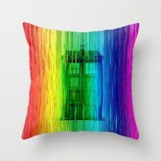 Tardis full colour Throw Pillow