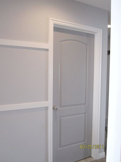 Walls Behr Manhattan Mist The Color Were Already Doing On Door Gray Timber Wolf Like