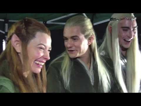Cast reaction to cute fan reaction to new Hobbit trailer.