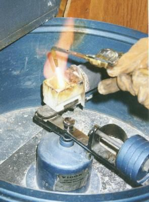Making Charms Using Lost Wax Casting: Melt the Metal