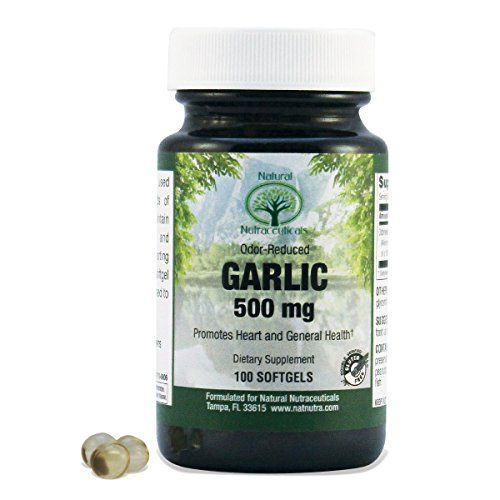 Natural Nutra Garlic Supplement Odor Reduced 100 Softgel Capsules 500 mg Helps Maintain a Healthy Life * Visit the image link more details.