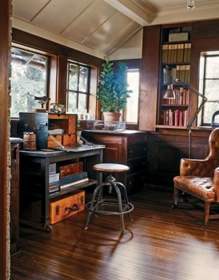 Excellent 20 Library Home Office Designs Decorating Ideas  Design Trends