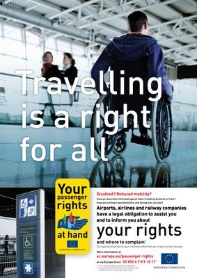 """""""Travelling is a Right for All"""": Air travel tips for people with disabilities."""