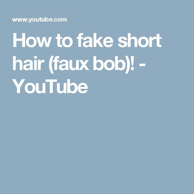 How to fake short hair (faux bob)! - YouTube