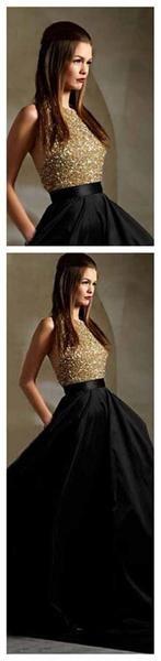 Long Prom Dresses, Black Prom Dresses, Party Prom Dresses, Ball Gown, A-Line Prom Dresses, Sparkle Prom Dresses, 2016 Prom Dresses, PD0023