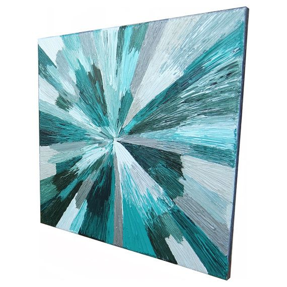 Original Modern Abstract Texture Palette Knife by ALORNAandCo