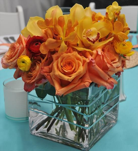 Best images about orange flower arrangements on