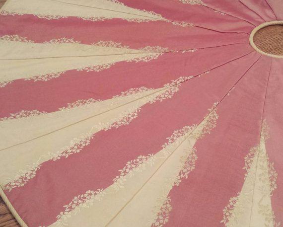 39 embroidered silk christmas tree skirt luxury pink buttery yellow gold - Pink Christmas Tree Skirt
