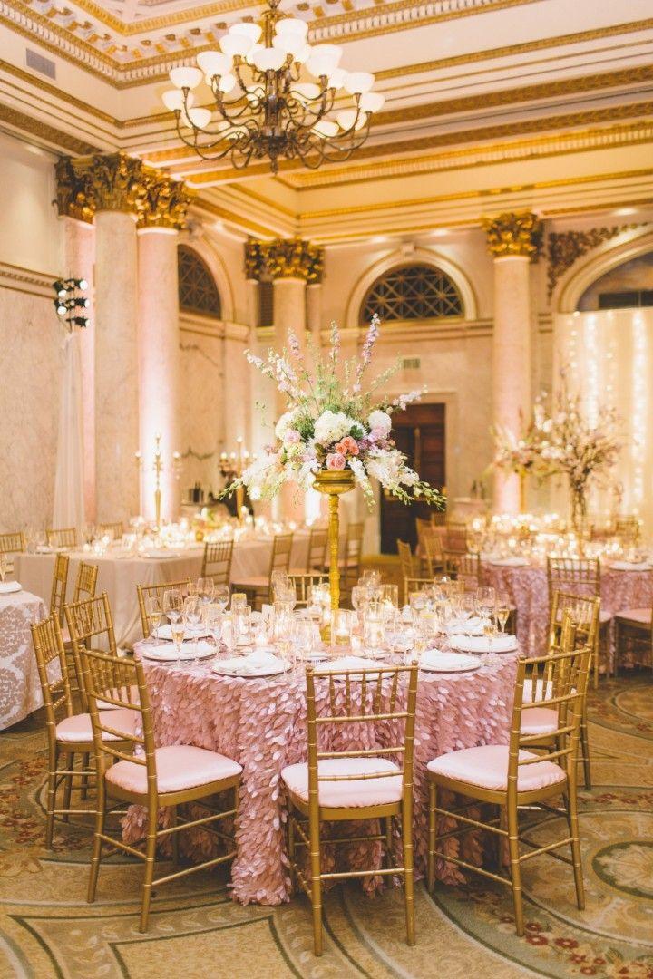 Glamorous Pink And Gold Maryland Wedding Maryland
