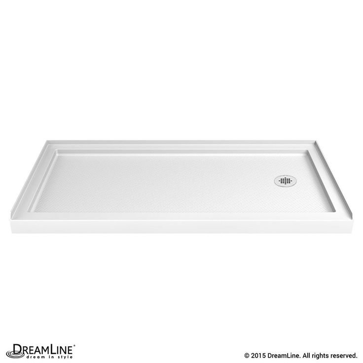 dreamline slimline white acrylic shower base common 36in w x 60