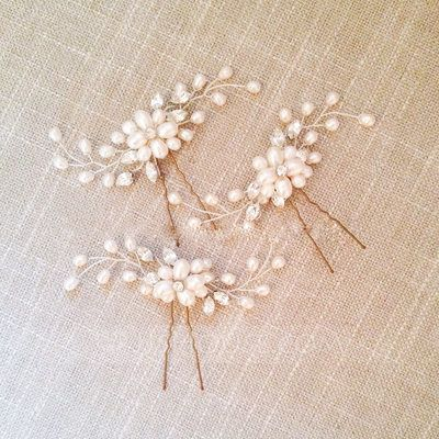 Ladies Beautiful Rhinestone/Alloy/Imitation Pearls Hairpins (Set of 3) (042109096)
