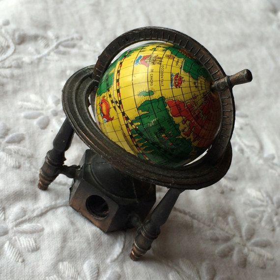1238 best globe trottin images on pinterest map globe maps and little bitty yellow world globe vintage pencil sharpener gumiabroncs Gallery