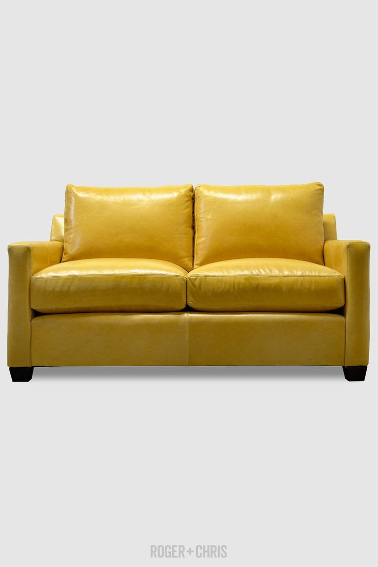 25 best ideas about yellow leather sofas on pinterest for Yellow leather sofa bed