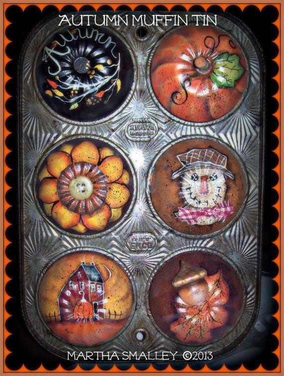 Apple Tree Cottage Original Design E Pattern  - Harvest Muffin Tin