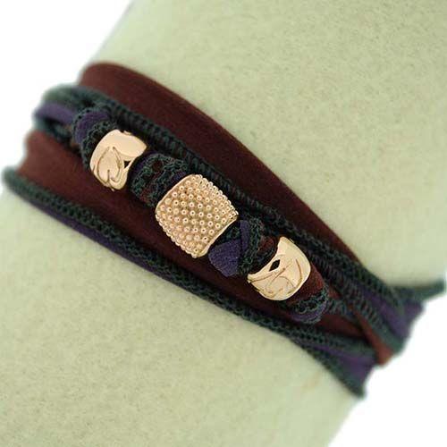 Bracelet in silk by Blooblood Milano