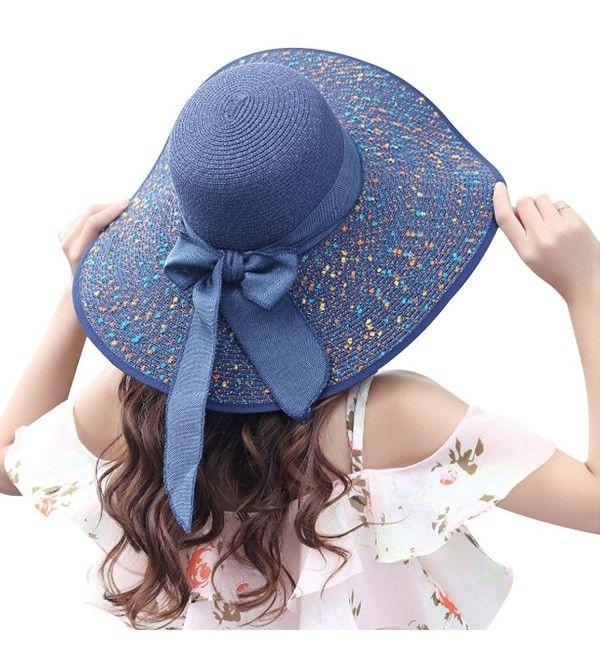 Women Summer Spekel Flap Cover Cap Staw Large Brim Upf 50 Sun Shade Hat Navy Ck17yihtx4n Shade Hats Women Hat Designs